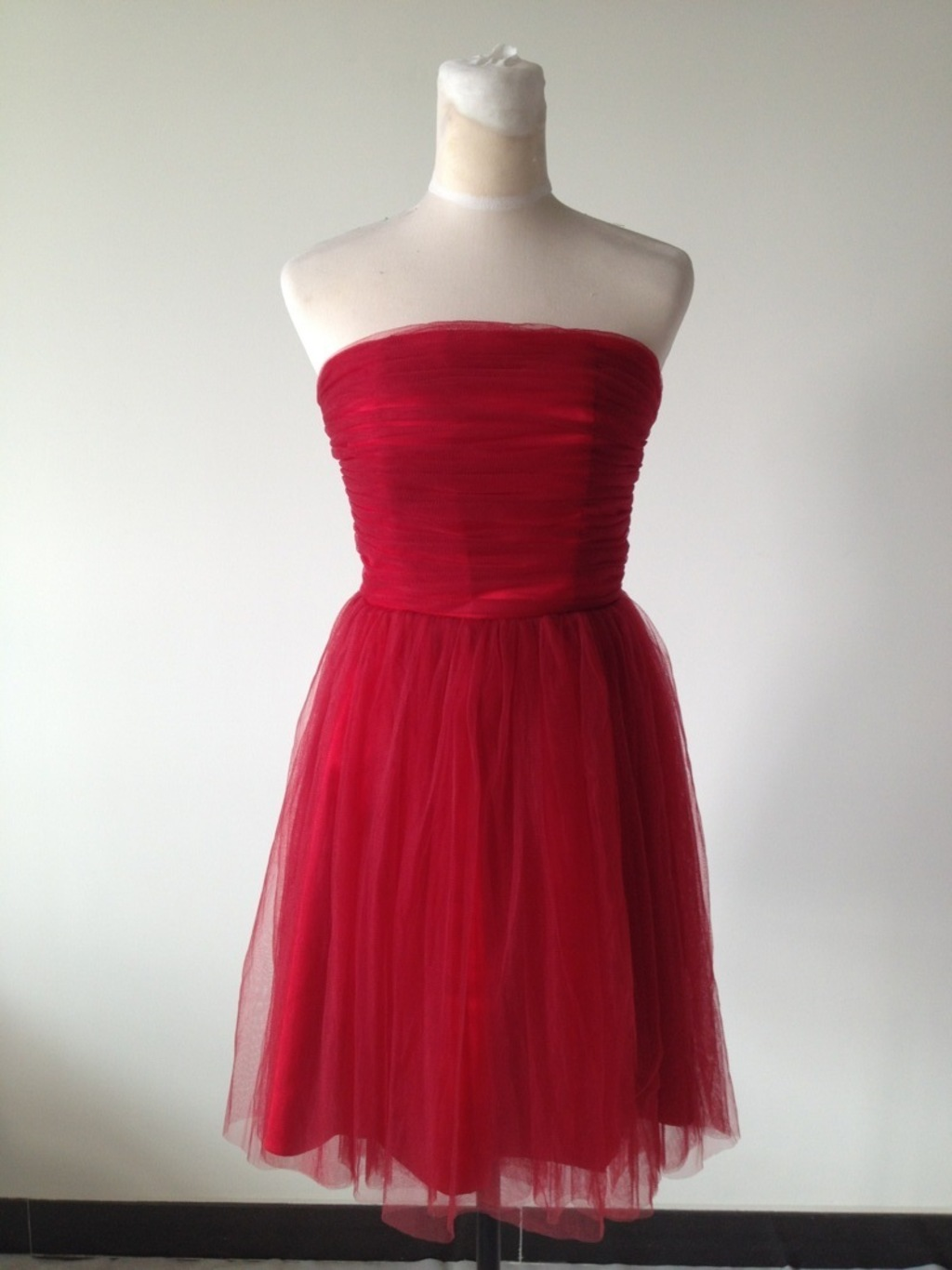 Simple red bridesmaid dress simple prom dress on luulla for Simple red wedding dresses